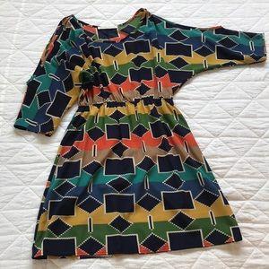 Patterned Cutout Shoulder Dress